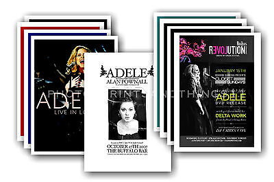 ADELE  - 10 promotional posters - collectable postcard set # 3