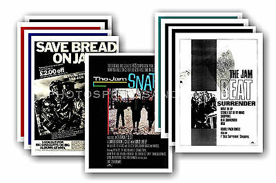 THE JAM - 10 promotional posters - collectable postcard set # 3