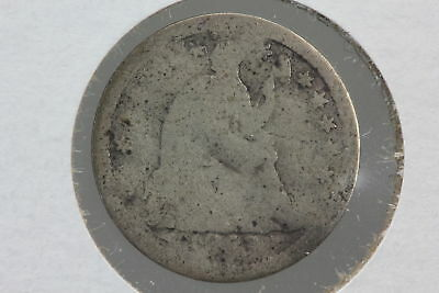 1853 Half Dime AG Arrows