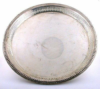 7 1/4 x 3/5 Inch Wallace Vintage Reticulated Pure Sterling Silver Plate  AS73