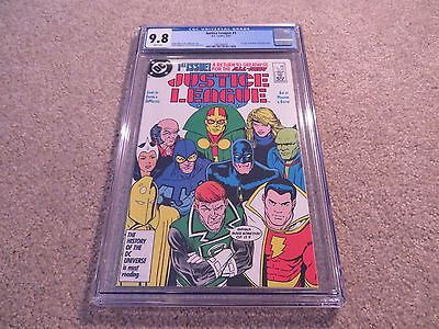 Justice League #1 1st App Maxwell Lord (Black King) CGC 9.8 1987 DC White Pages