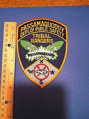 Passamaqoddy Dept Of Public Safety Tribal Rangers  Maine  Shoulder Patch