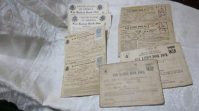 Lot Of 8 Vintage Ww Ii Ration Books Some With Stamps Books 1 2 3 4 James Jones