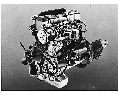 1973 Opel Rekord 2100D Diesel Engine Factory Photo ca8403