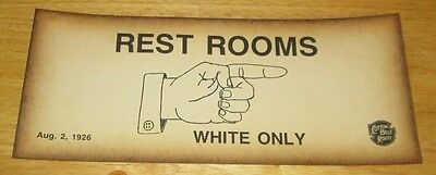 Black Segregation Sign Restrooms White Only Cotton Belt Route Free Shipping