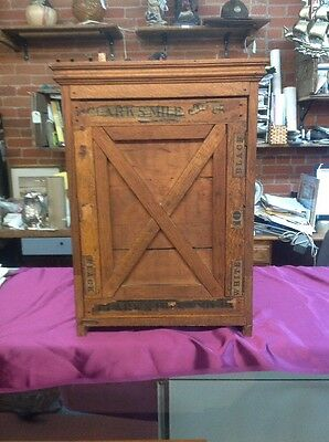 Ornate Antique Primitive Clark's Mile End Store Display Spool Cabinet