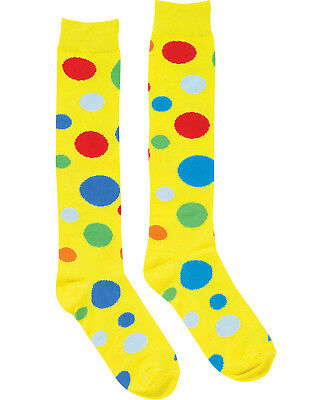 Clown Polka Dot Circus Socks Roller Derby Mens/Women Halloween Costume Accessory