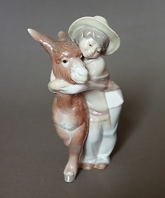LLADRO BOY WITH DONKEY (Platero & Marcelino) Porcelain Figurine ~ Perfect!