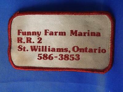 Funny Farm Marina St Williams Patch Vintage Boat Camp Ontario Canada Collector