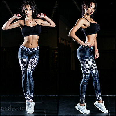 Womens High Waist Yoga Fitness Leggings Running Gym Stretch Sport Pants Trousers