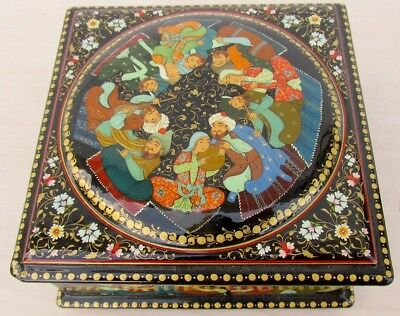 Nice Hand Painted Persian Lacquer Box