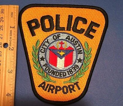 Cty Of Austin Texas Airport Police  Shoulder Patch