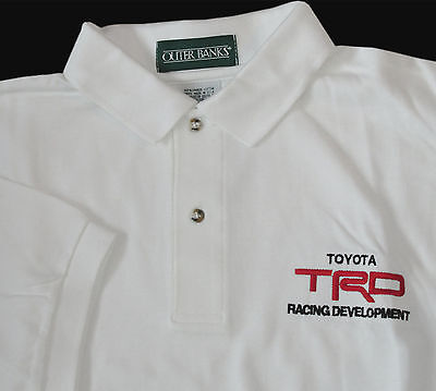 TRO Racing Development White Toyota Polo Shirt XL New