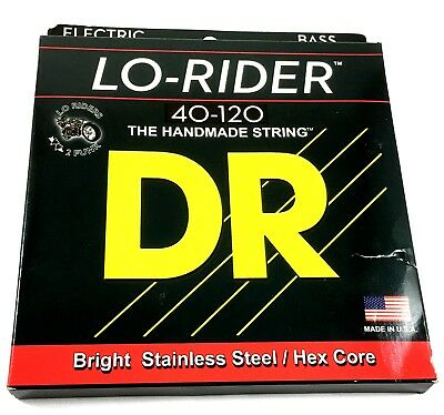 DR Bass Strings Lo-Rider (Low Rider) MH5-120 5-String Bass Strings 45-120