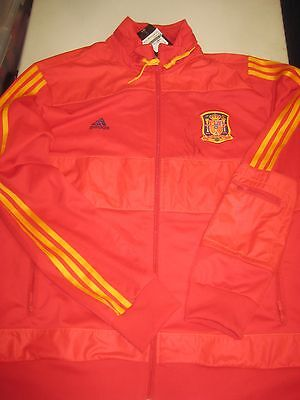 Spain- David Villa hand signed World Cup Spain Tracksuit / Warm Up top + COA