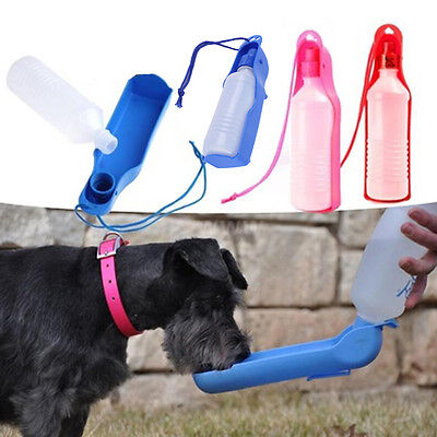 Dog Travel Sport Water Bottle Outdoor Feed Drinking Feeder Pet Supply Portable
