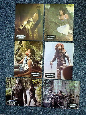 SWAMP THING Wes Craven Original 1980s Horror Lobby Cards x 6 Adrienne Barbeau