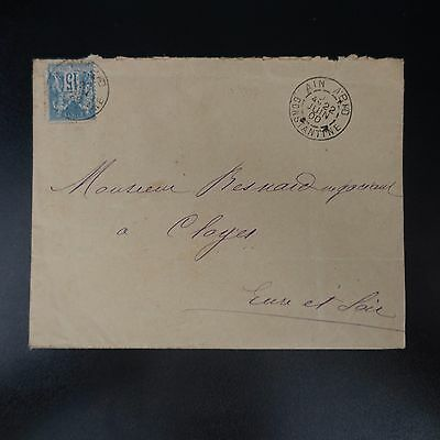 France Timbre Type Sage N°90 Sur Lettre Cover Bfe Cad Ain Abid Constantine