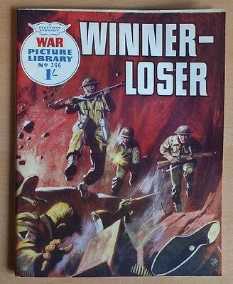 """WAR PICTURE LIBRARY # 366 """"Winner - Loser"""" issued December 1966 VG / Excellent."""