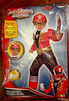 Power Rangers Red Ranger Megaforce Muscle Costume Toddler Small 2T NEW Halloween
