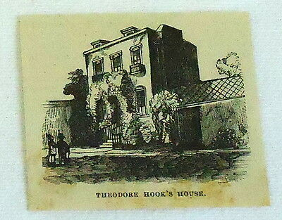 small 1878 magazine engraving ~ THEODORE HOOK'S HOUSE, Berners St Hoax, England
