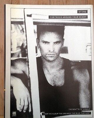 STING 'Fortress Around Your Heart' magazine ADVERT / Poster 11x8 inches