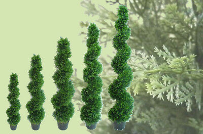 Best Artificial Cedar Spiral Conifer Topiary Outdoor Twist Trees alt bay new
