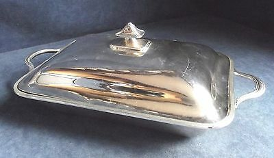 "SUPERB Large 13"" ~ ELKINGTON ~ SILVER Plated ~ Serving DISH & INSERTS ~ c1890"