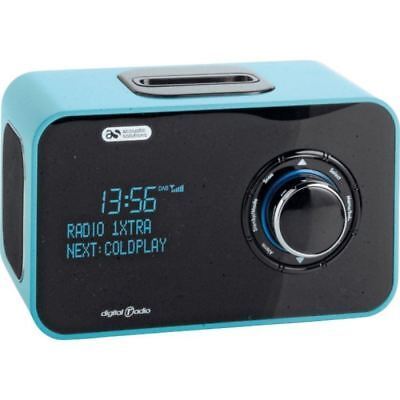 Acoustic Solutions Alarm Clock DAB Radio iPod iPhone Dock Docking Green - New