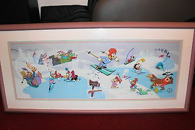 Walter Lantz South Pole #1 Serigraph Art Cel Signed Walter Lantz