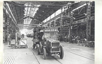 1920 ? Citroen Truck in Factory Assembly Line ORIGINAL Factory Photograph wy3072