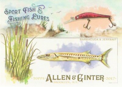 2017 Topps Allen & Ginter Sport Fish & Fishing Lures #SFL-19 Barracuda