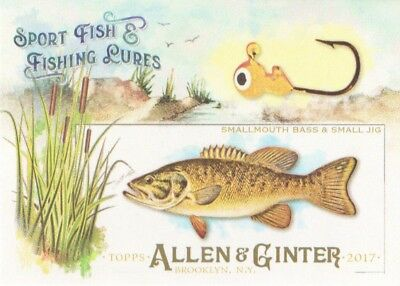 2017 Topps Allen & Ginter Sport Fish & Fishing Lures #SFL-20 Smallmouth Bass