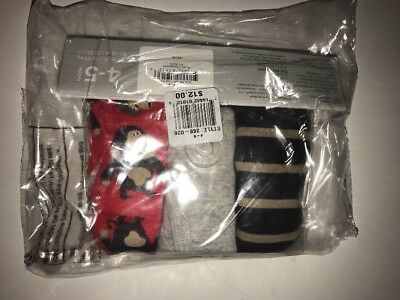 CARTER'S Toddler Boys' 3-pk. Monkey Brief Underwear GREY/BROWN/RED Size 4-5 NWT
