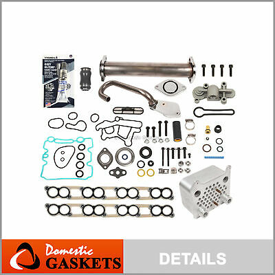 EGR Delete Kit+Oil Cooler+Gaskets+Blue Spring Upgrade 03-07 Ford 6.0 Powerstroke