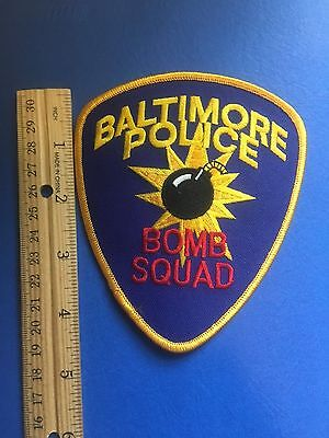 Baltimore Maryland  Police Bomb Squad  Shoulder Patch