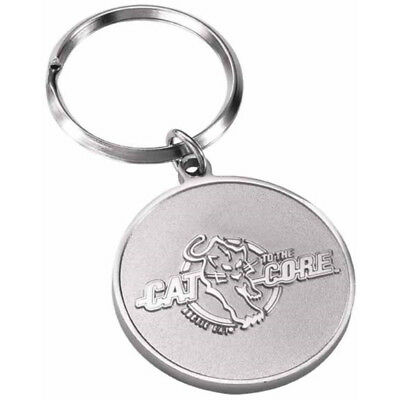 Arctic Cat Cat To The Core 2-Sided Keychain Key Chain - Metallic Gray - 5253-215