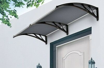 Frazer Window Awning Door Canopy Cover 2m Tinted Cover- Black Brackets
