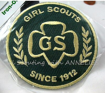 "Official Girl Scout PATCH ""G.S. Since 1912"" NEW in Pkg. Souvenir Badge Combine"