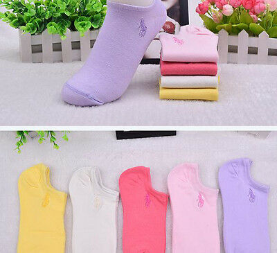 20 Pairs HJC Polo 100% Cotton Women Ankle No Show Casual Sport Socks Low Cut