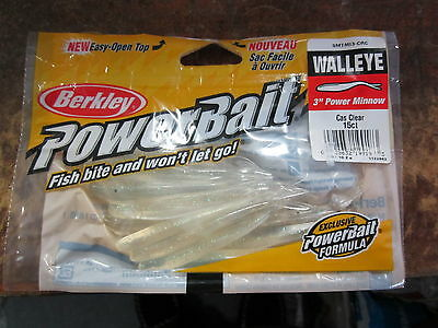 "Berkley Powerbait 3"" CASPER CLEAR minnow  15ct  NIP"