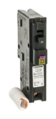 Square D  HomeLine  Arc Fault and Ground Fault  20 amps Circuit Breaker