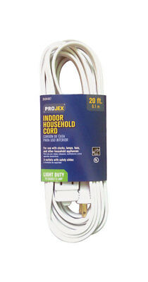 Projex  Indoor  Extension Cord  16/2 SPT-2  20 ft. L White