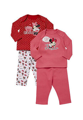 DISNEY'S MINNIE MOUSE PK OF 2 PYJAMAS. NEW IN PACKET. 18-24m