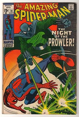 MARVEL Comics SPIDERMAN Amazing Silver age #78 1969 FN+ 6.5 Spider-man PROWLER
