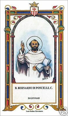 Santino Holy Card Tela Canvas Beato Bernardo Di Poncelli