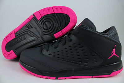 purchase cheap 672f7 71311 NIKE AIR JORDAN Flight Origin 4 Dark Gray/Deadly Pink/Black Girls Kids  Youth Sz