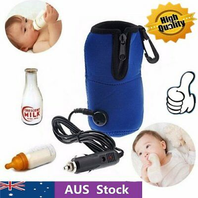 12V Food Milk Water Drink Bottle Cup Warmer Heater Car Auto Travel Baby DS