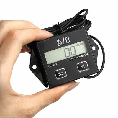Motorrad Digital LCD Racing Spark Plug Engine Tach Hour Meter Tachometer Gauge