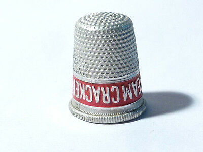 Vintage Aluminium Crawfords Cream Crackers Advertising Thimble